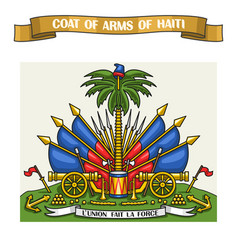 Haitian coat of arms vector