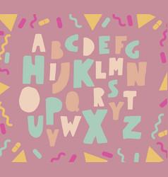 paper cut pastel font vector image