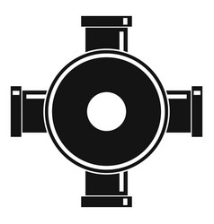 pipe fitting icon simple style vector image vector image