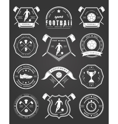 Set of Football Badge vector image