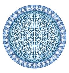 circular ornamental pattern vector image