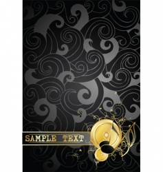 gold notes on a background vector image vector image