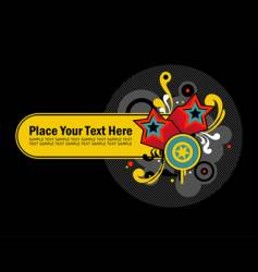 retro text panel vector image