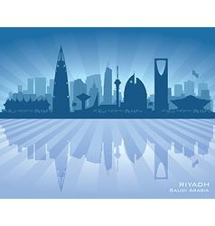 Riyadh saudi arabia city skyline silhouette vector