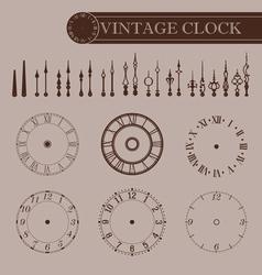 Vintage clock part vector image vector image