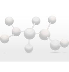 3d molecular structure vector image