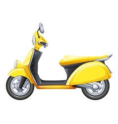 A yellow scooter vector image