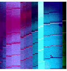 Abstract glitch background vector