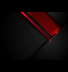 Abstract template black and red geometric vector