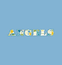 Angels concept word art vector