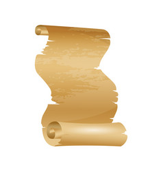 antique or old paper roll vertical scrolls or vector image