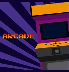 Arcade vintage videgame vector