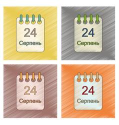 Assembly flat shading style icon calendar ukraine vector