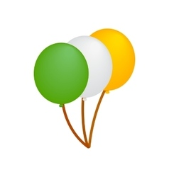 Balloons in irish colors isometric 3d icon vector