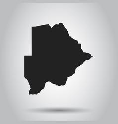 botswana map black icon on white background vector image