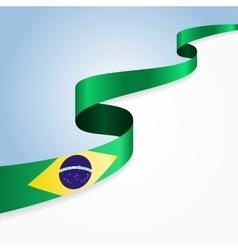 Brazilian flag background vector