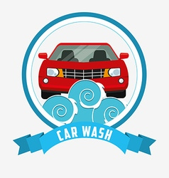 car wash design vector image