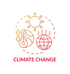 Climate change red gradient concept icon vector