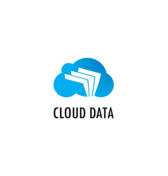 cloud data paper logo vector image