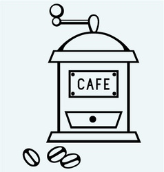 Coffee mill vector