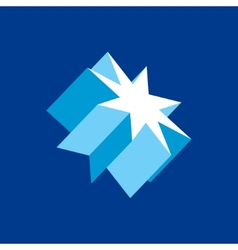 Crystal star sign vector