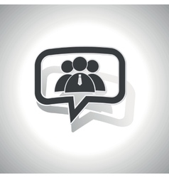 Curved user group message icon vector