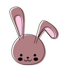 cute bunny icon image vector image vector image