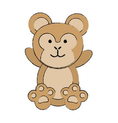 cute monkey or stuffed animal icon image vector image