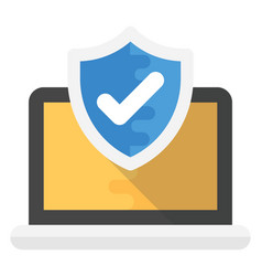 Data protection flat icon vector