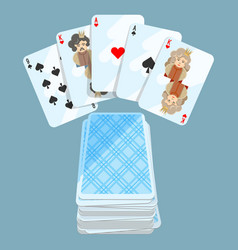 Deck of different cards collection vector