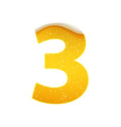 digits for alphabet in form lemonade or vector image