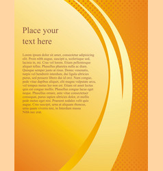 document page template with a yellow vector image