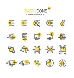 Easy icons 50d computer virus vector