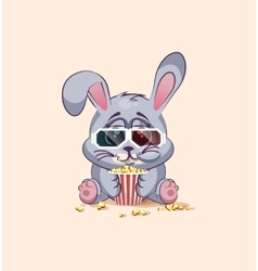 Emoji character cartoon Gray leveret chewing vector
