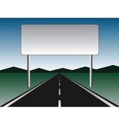 Empty road - empty billboard vector