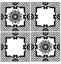 ethnic motives vintage traditional ceramic tile vector image