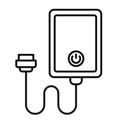 External power bank icon outline style vector