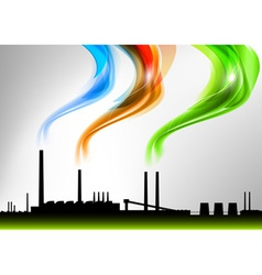 Factory white curve rainbow vector
