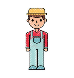 Farmer character isolated icon vector