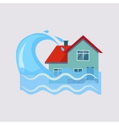 Flood House Insurance vector
