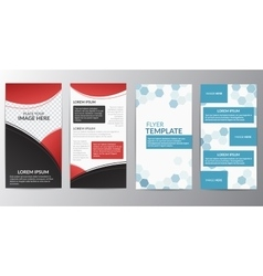 Flyer Layout Design Template vector image