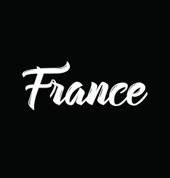 France text design calligraphy vector