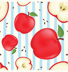 fresh apple background vector image