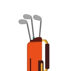 golf bag with clubs icon vector image