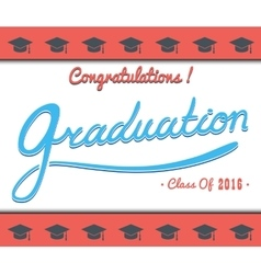 Graduation template Party Congrats vector