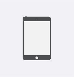 gray tablet icon with isolated blank screen moder vector image