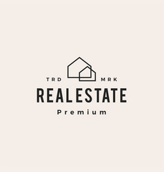 house home real estate hipster vintage logo icon vector image