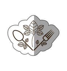 Isolated spoon and fork desggin vector