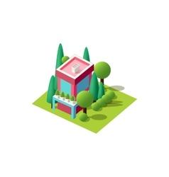 isometrics cottage vector image