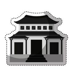 japanese building traditional icon vector image